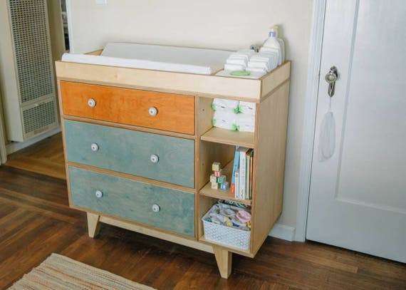 Mid Century Modern Dresser | Changing Table | Kids Dresser | Modern Dresser