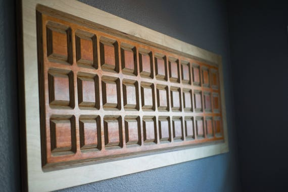 Wall Art | Wood Wall Art | Pattern Wall Art | Wall Decor | Mid Century Modern Wall Art | Modern Wall Art