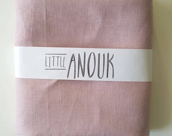 100% Linen Standard Cot Crib or Stokke Sleepi Cot Crib Fitted Sheet in Musk