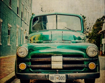 Classic Car Photography, Vintage Dodge Pickup Truck, Antique Car, 1940s, 1950s, Mancave, Father's day, car lover's gift, Garage, Rec Room