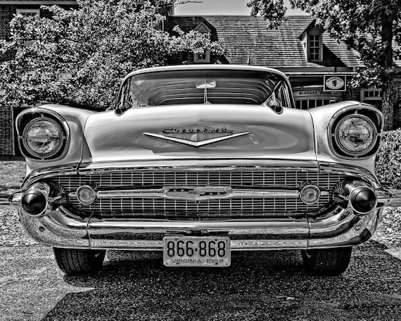 Photograph Vintage Chevrolet Auto Repair Shop 11x14
