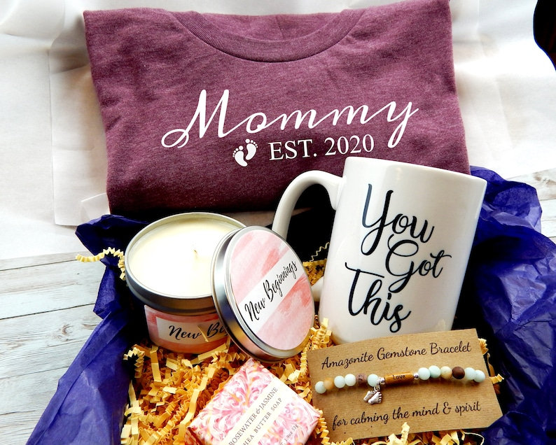 New Mom Gift Basket Gift For New Mom Mommy Est. 2020 image 0