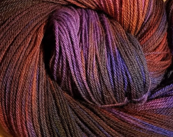 Dragonfly  Indie Glaze Dyed 100% Peruvian Highland Wool/SW - Fingering weight yarn 100g,  402yds