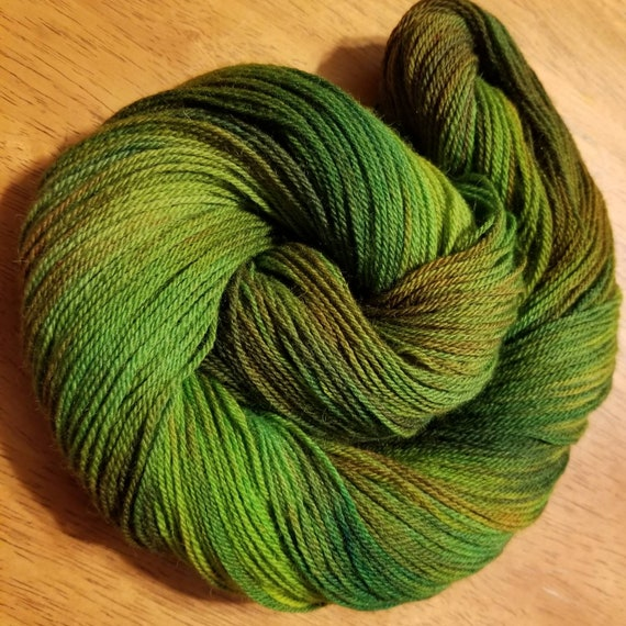 Spring Leaves  Indie Glaze Dyed 100% Peruvian Highland Wool/SW - Fingering weight yarn 100g,  402yds