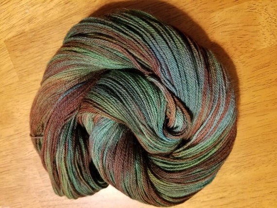 One of a Kind  Indie Glaze Dyed 100% Peruvian Highland Wool/SW - Fingering weight yarn 100g,  402yds