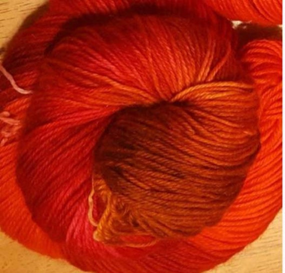 Autumn Sunset / Polwarth SW - DK weight yarn