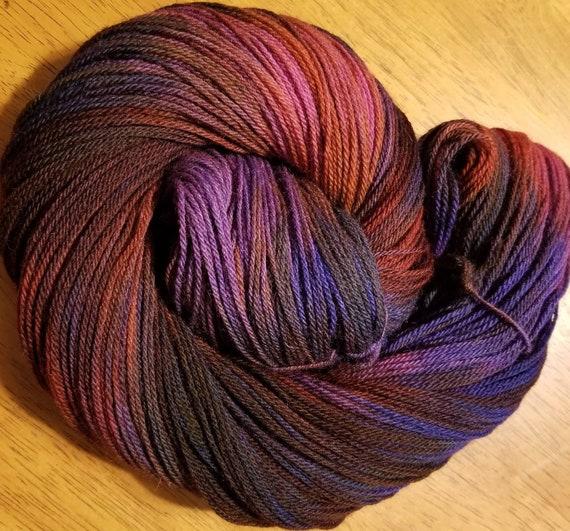 Dragonfly  Indie Glaze Dyed 100% Peruvian Highland Wool/SW - Fingering weight yarn 100g,  402yds