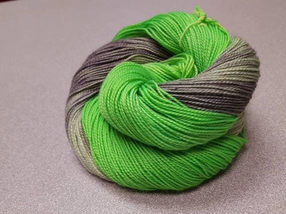 Colorway/Shrek Indie Dyed Fingering Weight 80/20 Merino/Nylon Sock Yarn