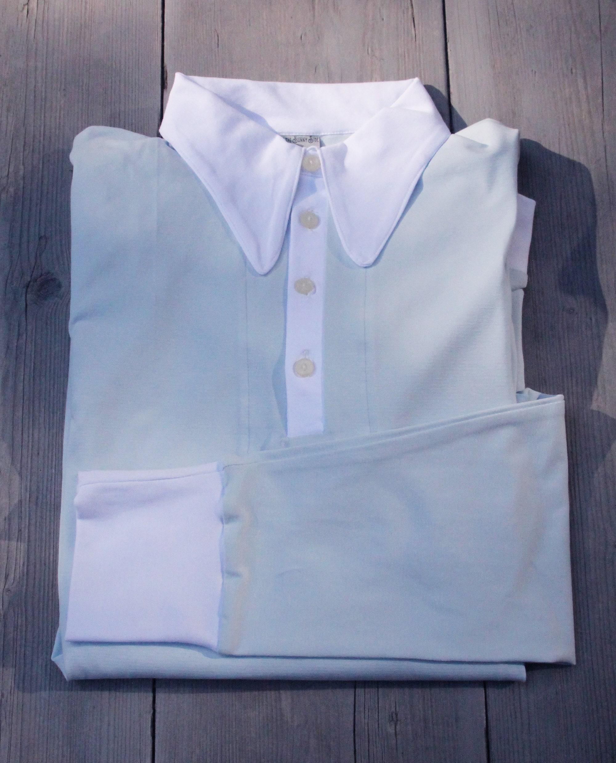 1940s Men's Shirts, Sweaters, Vests 1940S Mens Polo, Longsleeve Polo Shirt, Lindy Hop Mens, Spearpoint Collar Vintage 1930S Shirt $108.46 AT vintagedancer.com