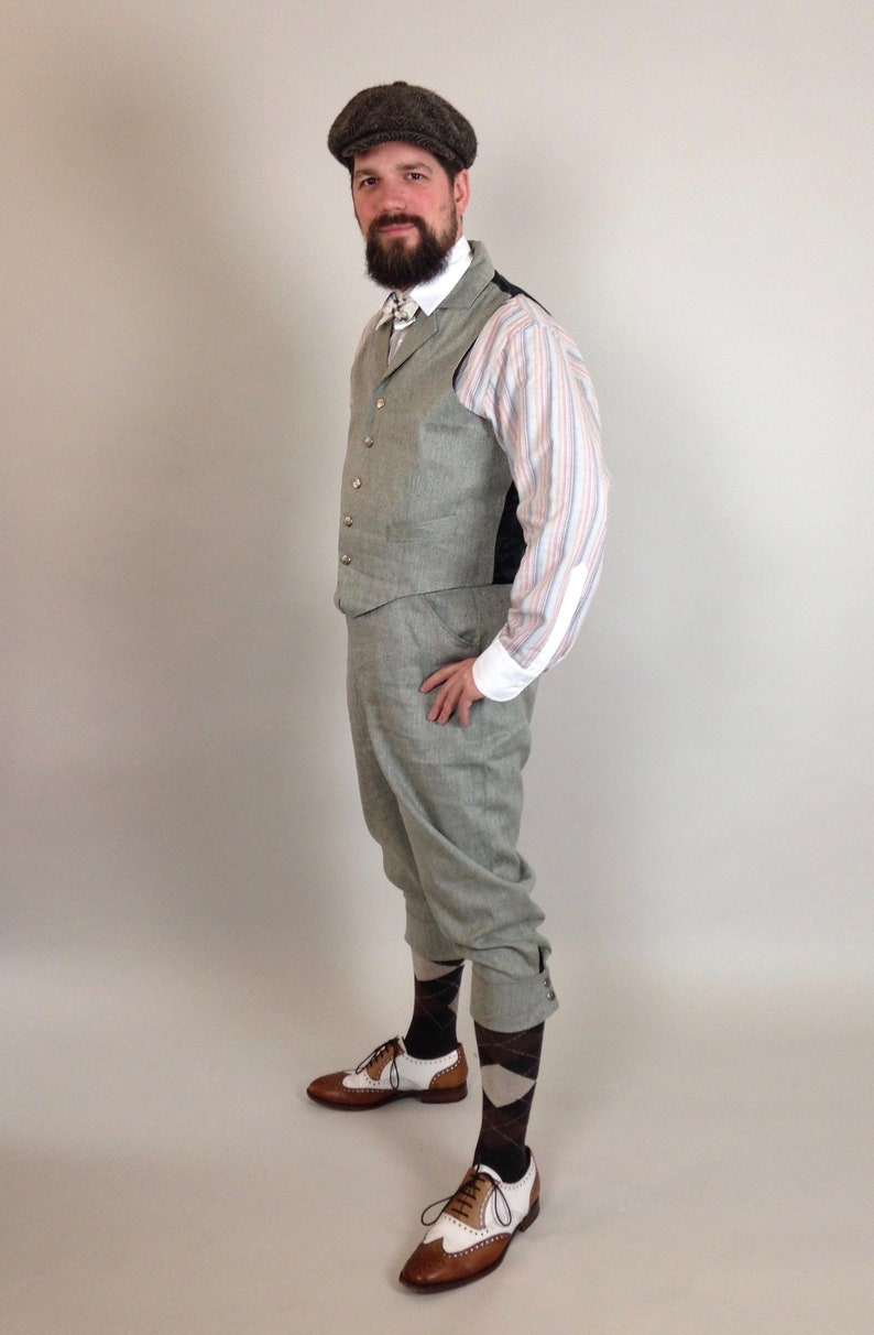 Easy 1940s Men's Fashion Guide 1930s knickerbocker suit vintage style golfing knickers cycling breeches tweedride suit 1910s1930s1940s $414.44 AT vintagedancer.com