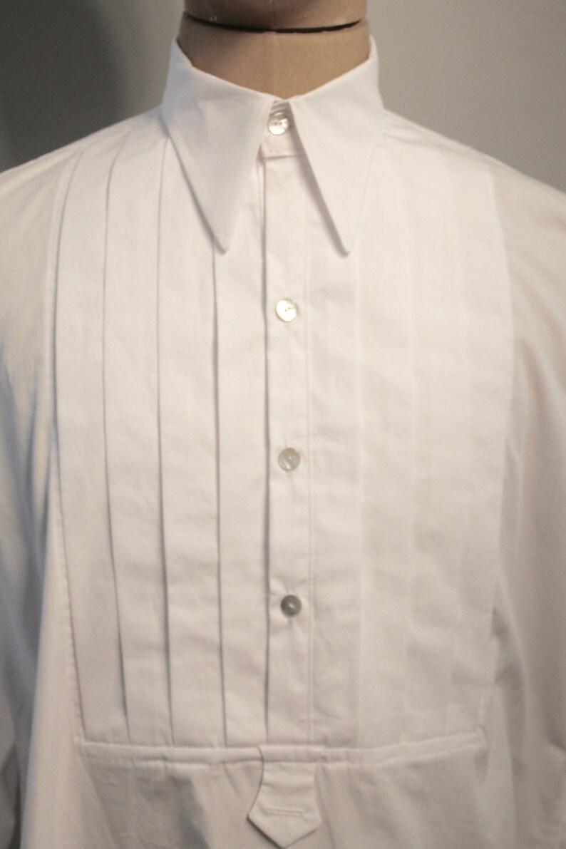 Gala Overhemd Heren.Smoking Overhemd Vintage Stijl Overhemd Geplisseerd Etsy