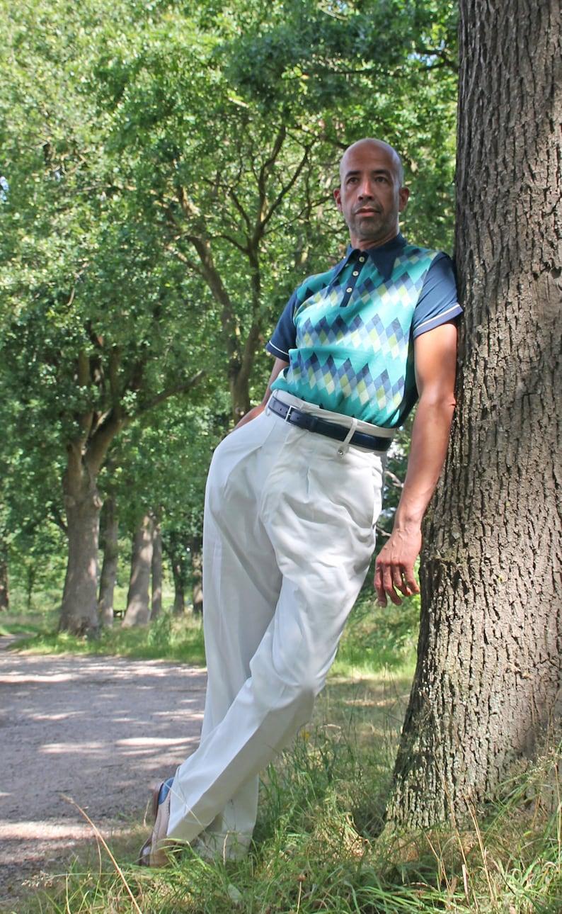 1940s Trousers, Mens Wide Leg Pants 1930s style tennis trousers vintage sportswear cream vintage trousers high rise trousers 1940s Gatsby trousers 1930s 1920s $177.25 AT vintagedancer.com