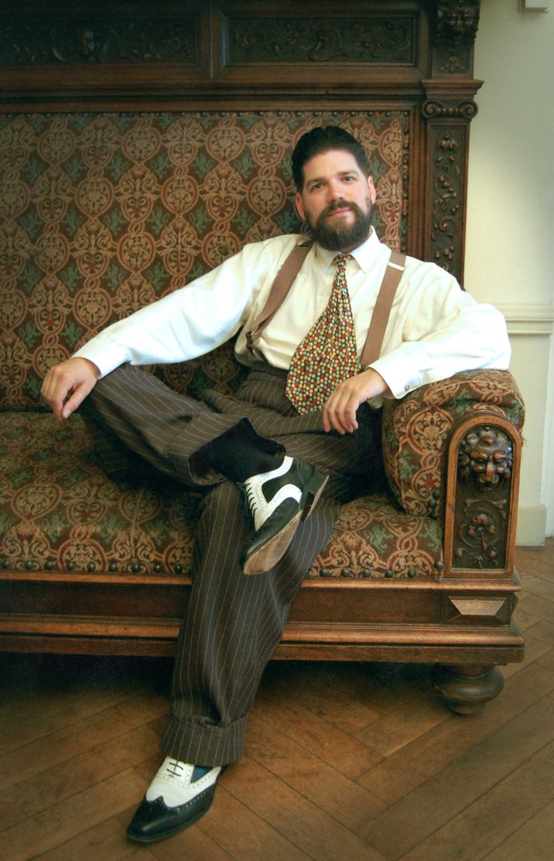 1940s Men's Outfit Inspiration | Costume Ideas SunnySideCouture  AT vintagedancer.com
