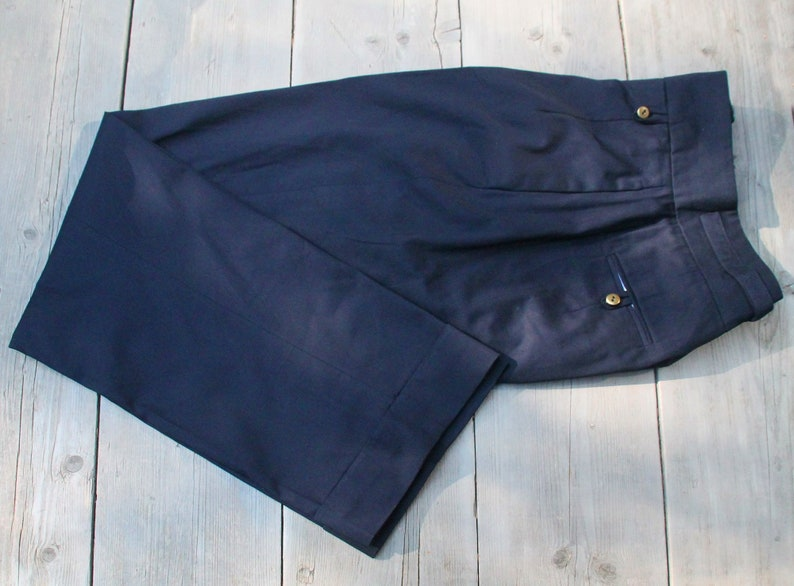 High Waist Trousers 1930 S Style Cotton Twill Men S Etsy