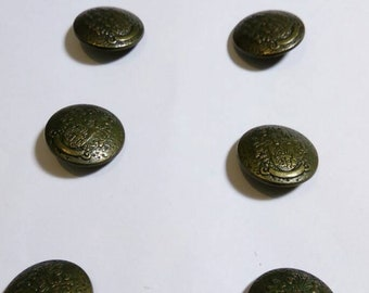 8 military brass buttons