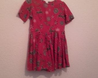HAPPY HOLIDAYS christmas cotton handmade dress