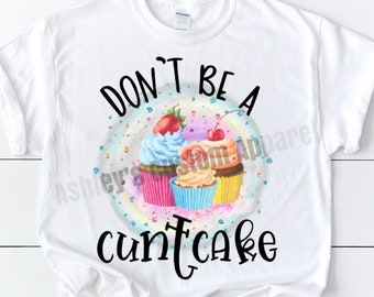 KEEP CALM AND EAT CUPCAKE Funny Gift Present New Ladies T-shirt
