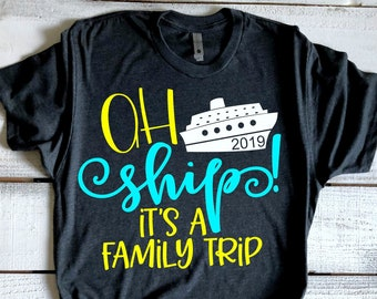 reputable site 7231e 4e8c7 Ah Ship It s A Family Trip Cruise Shirts Family Cruise Shirts Matching  Vacation Tshirts Swimsuit CoverUp Cruise Boat Tee Boating Shirts
