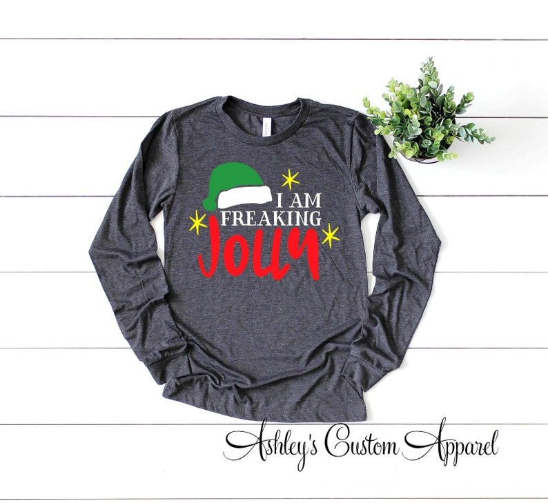 13d926a5bc Christmas Shirts For Women Funny Christmas Sayings Long Sleeve | Etsy
