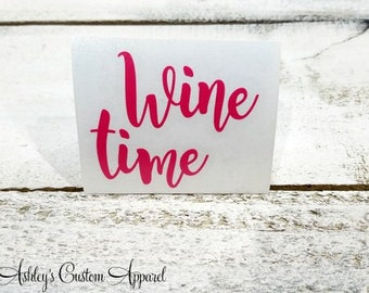 Wine Decal, Wine Time, This Might Be Wine, Wine Glass Decal, Stemless Wine Glass Decal, Custom Wine Glass Sticker, Wine Gifts, Wine Lover