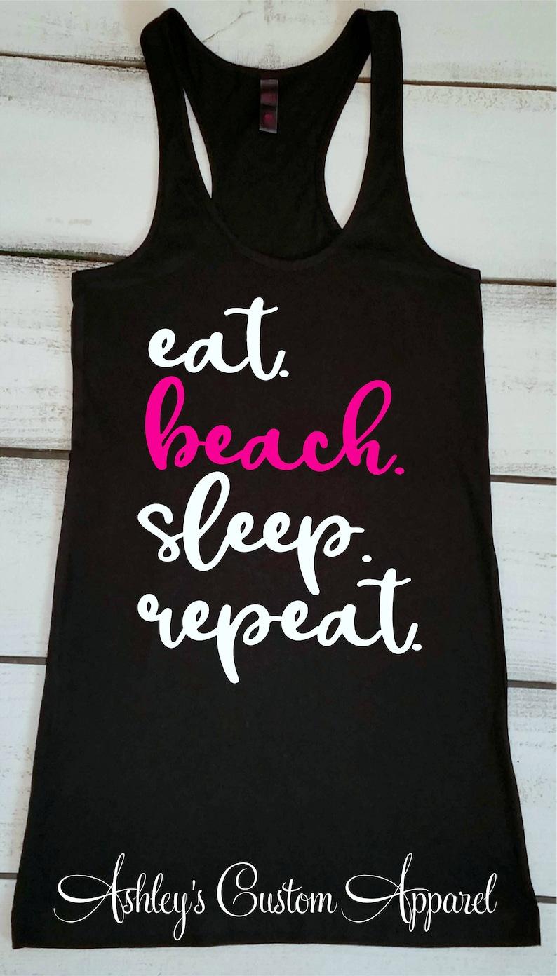 69628c7bb9 Beach Shirts Eat Beach Sleep Repeat Womens Beach Cover Up | Etsy