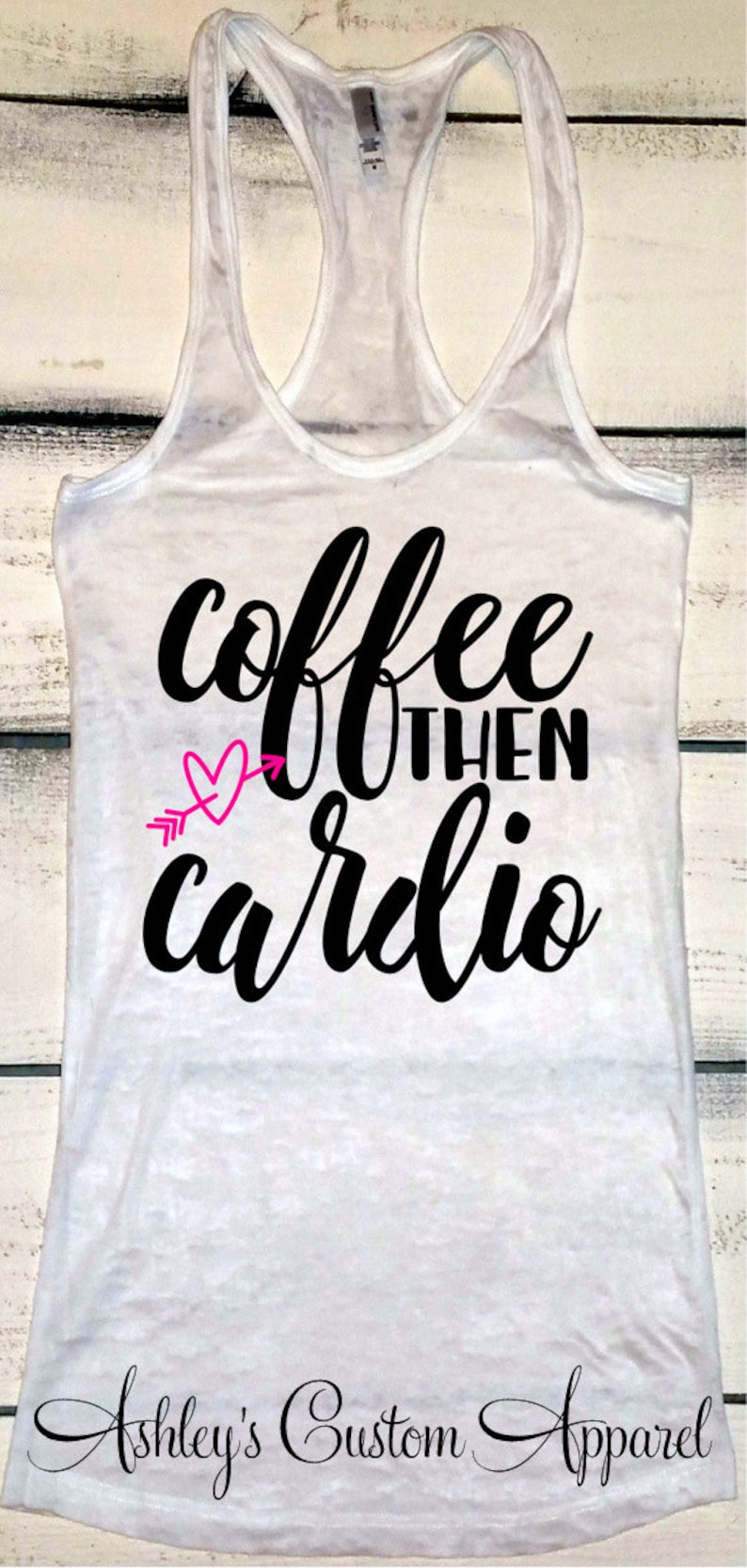 8bbdd72b3cfb7 Womens Fitness Tank Coffee and Cardio Funny Work Out Tank