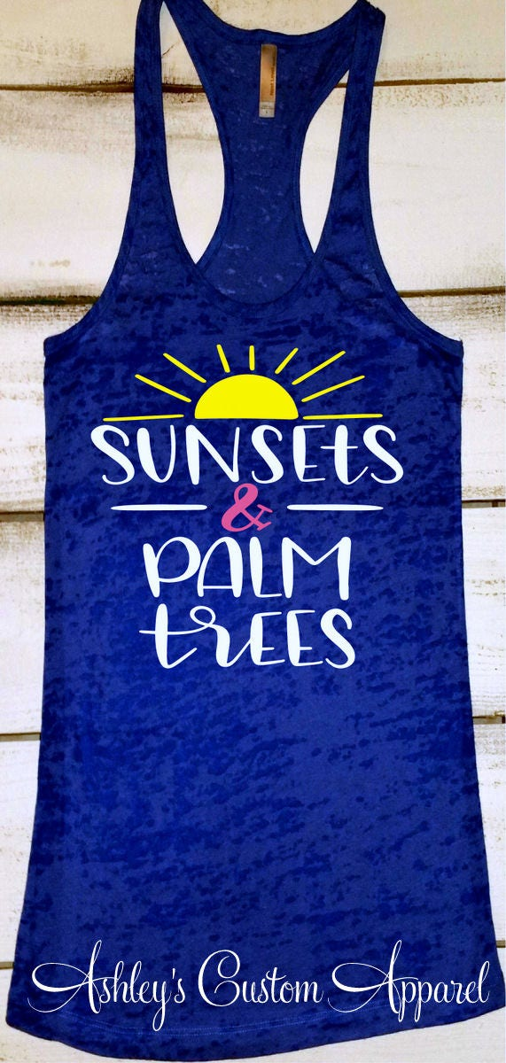 dc6fb29c548393 Summer Vacation Shirts Cruise Shirt Sunsets and Palm Trees