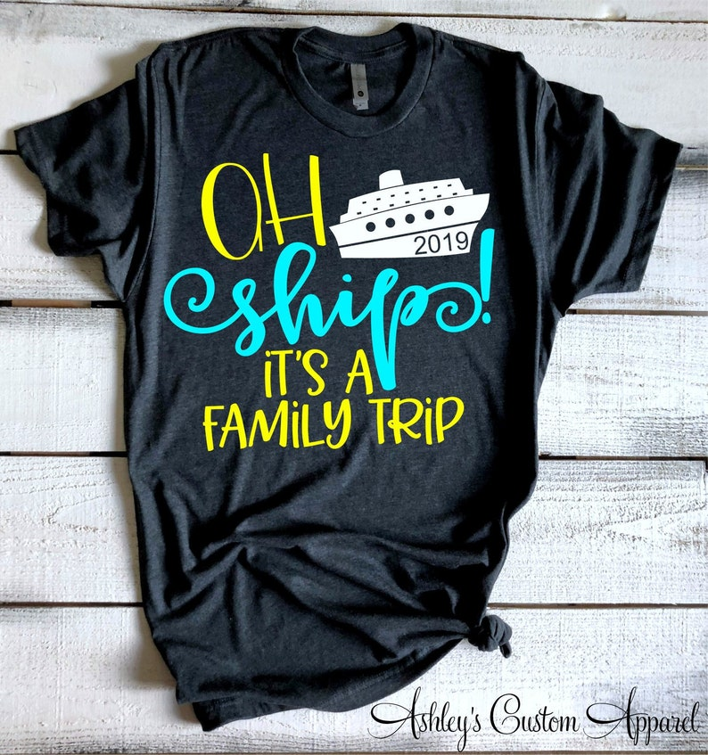 993289908d256 Ah Ship It's A Family Trip Cruise Shirts Family Cruise Shirts Matching  Vacation Tshirts Swimsuit CoverUp Cruise Boat Tee Boating Shirts
