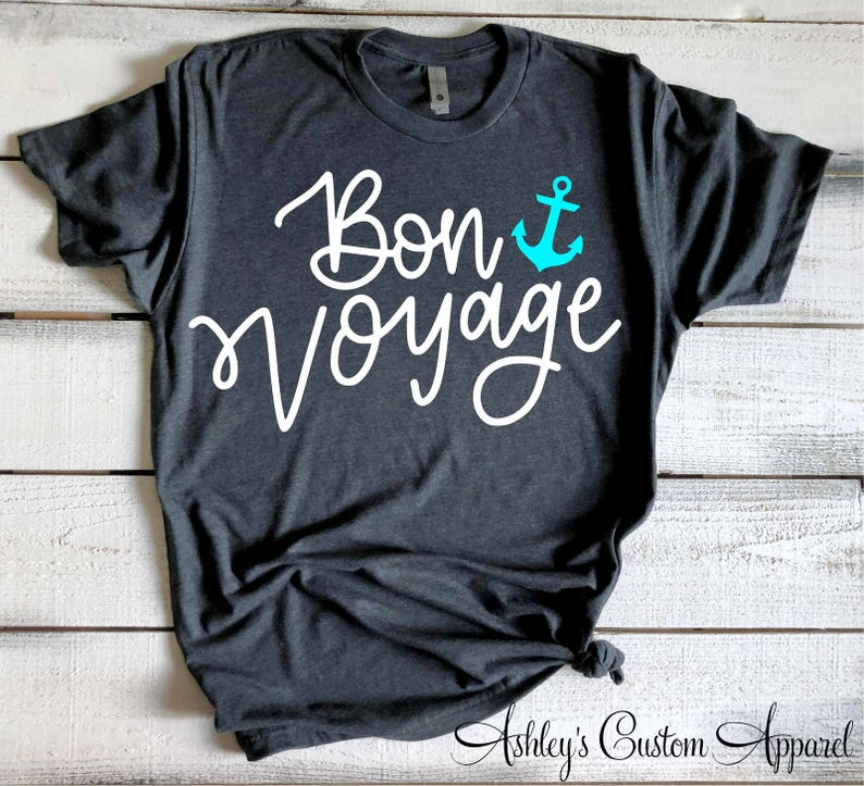7390a5356bc Bon Voyage Cruise Shirts for Women Nautical Tshirts Girls Trip   Etsy