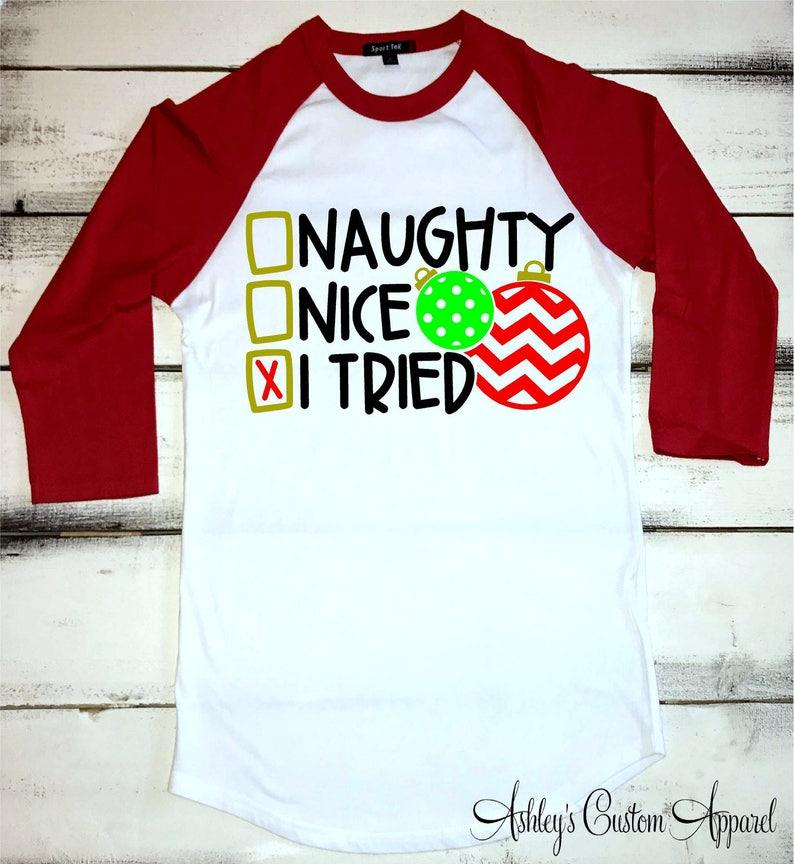 Kerst Shirts Voor Vrouwen Ondeugende Mooie Shirt Kerst Etsy