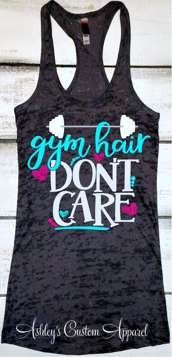 Gym Hair Don/'t Care Women/'s Tank Top