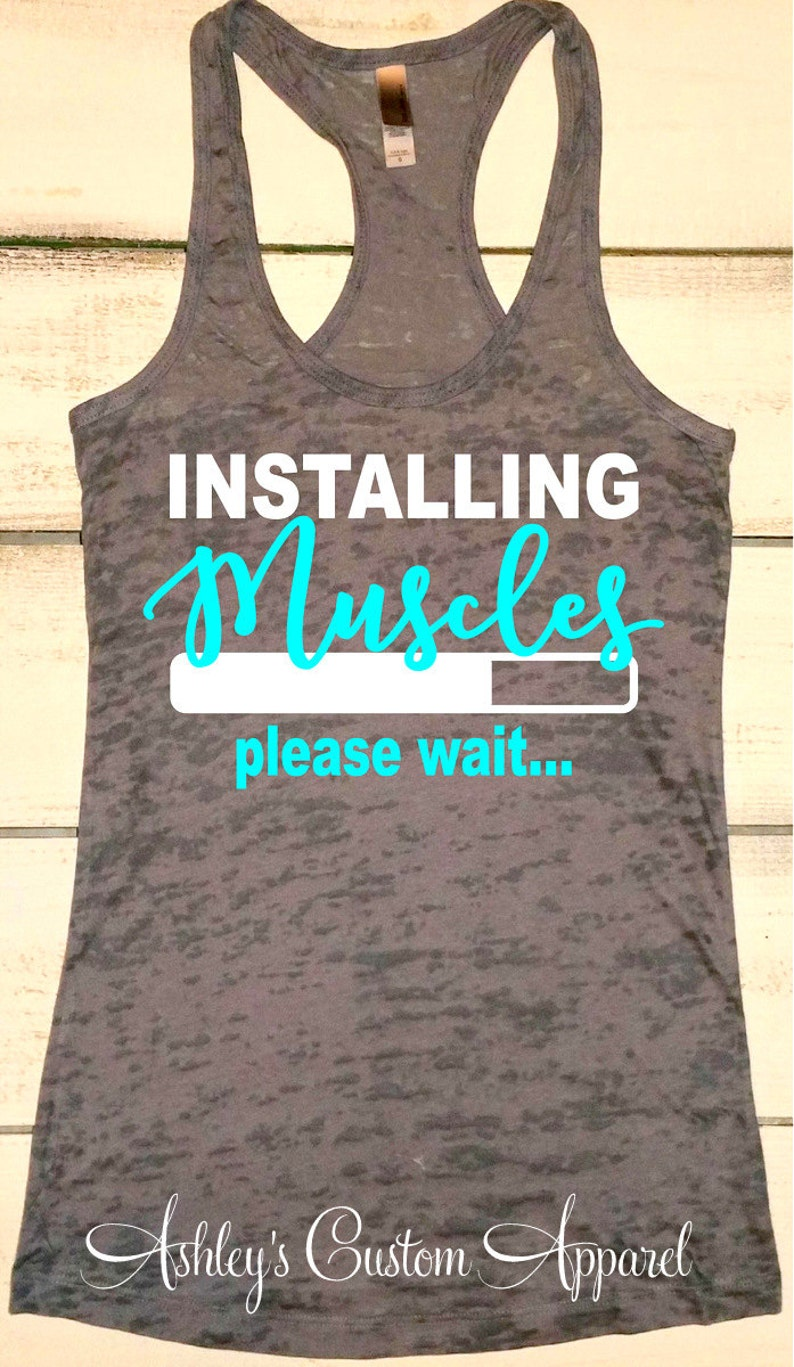 6437822a Funny Fitness Shirts Inspirational Work Out Tanks Womens | Etsy