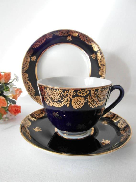 LOMONOSOV Russisch Teetasse Trio traditionell Kaffeetasse | Etsy