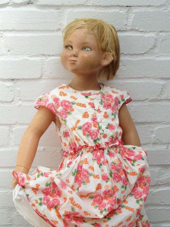FREE SHIPPING Antique French mannequin old dresses doll  0bd41226d1c6