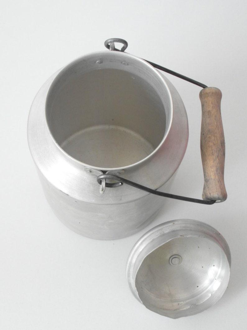 Alte Milchkanne Alu Feine Verarbeitung Gefäße