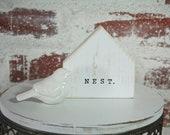 Nest Mini Sign, Tiered Tray Decor, Farmhouse Decor, Rae Dunn Accessories, Birdhouse, Wood Sign