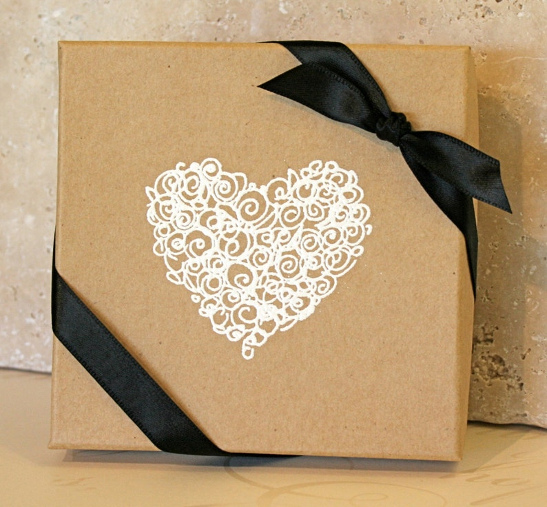Heart Gift Box Embossed Gift Boxes Paper Gift Box Jewelry Gift Boxes Bridesmaid Gift Box Favor Boxes