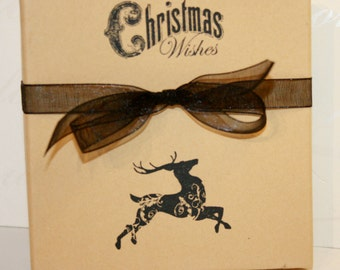 Christmas Wishes Holiday gift box, Paper gift box, Jewelry gift boxes, Christmas, Decorative gift box