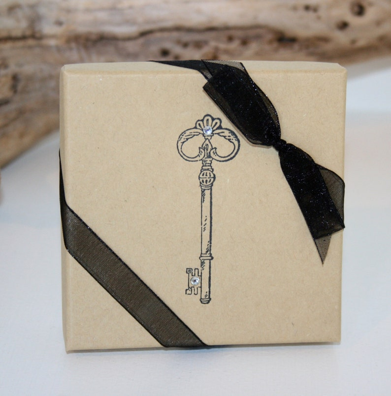 Paper gift box Unique Gift box Jewelry gift boxes Favor boxes Bridesmaid gift box Vintage Key Gift Boxes