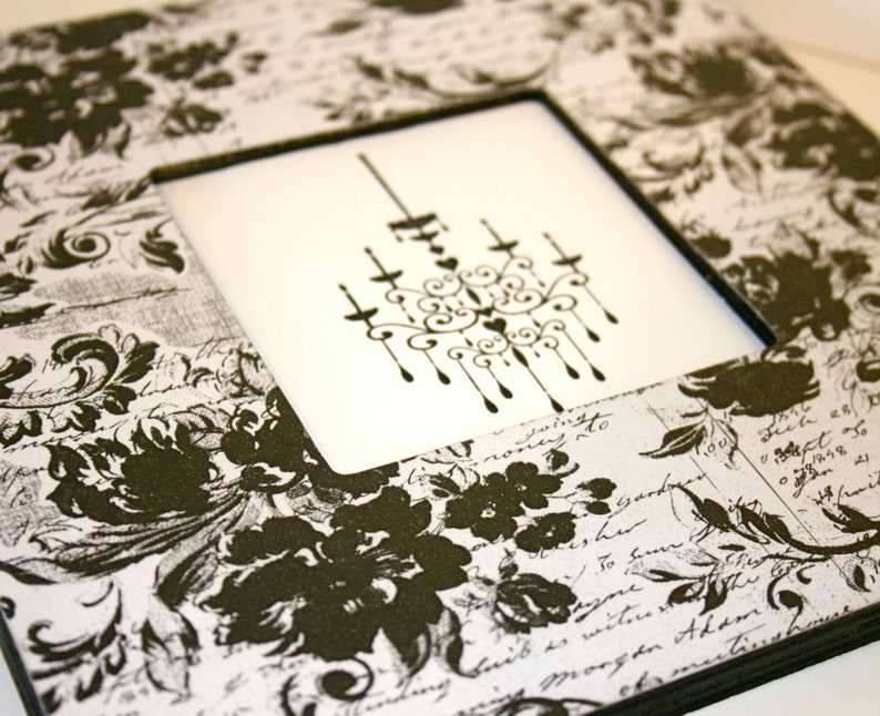 Black and white frame Photo frame Cottage picture frame Picture frame