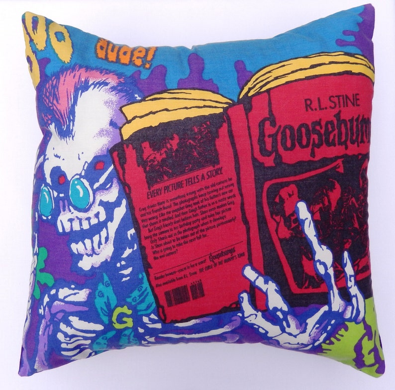 Goosebumps Vintage Fabric Cushion Selection  Handmade by image 0