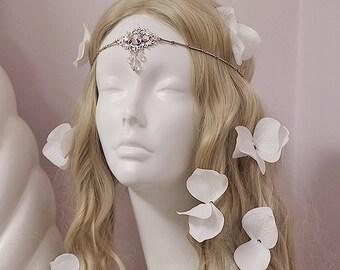Rainbow Crystal Circlet - Bridesmaid Crown Set
