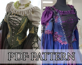 SEWING PATTERN how to make Sorceress Gown PDF