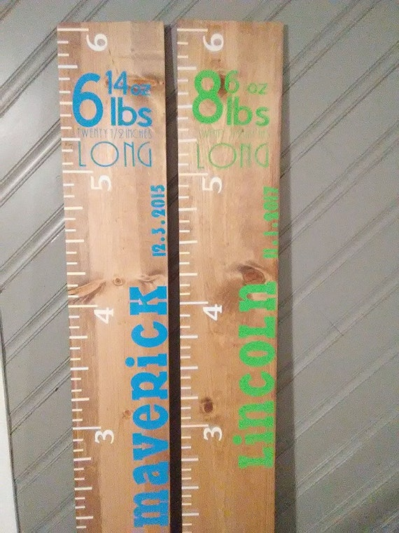 Giant Ruler Growth Chart Keep Sake Giant Growth Chart Etsy