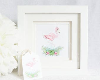 Limited Edition Framed Print - Flamingo
