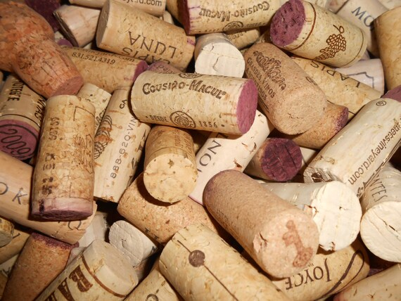 50 All Natural Used wine corks red and white wines Wedding Crafts 100/% cork