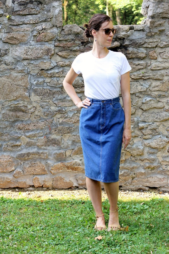 Haute Klein Maman Vintage En Taille Jupe Etsy Calvin Bleu Jean wfpxq1xvB