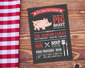 Pig Roast Invitation Etsy