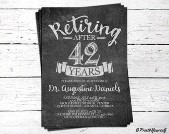 Retirement Invite // Personalized Printable Chalkboard Retirement Invitation // Retiring Invite // Retiring Invitation