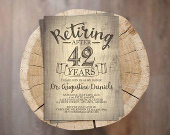 Rustic Retirement Invite // Personalized Printable Rustic Retirement Invitation // Retiring Invite // Retiring Invitation